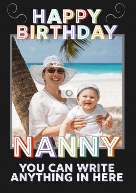 PERSONALISED Nanny Birthday...