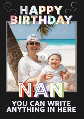 PERSONALISED Nan Birthday Card