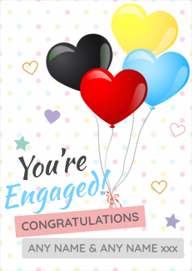 PERSONALISED Your Engaged Card