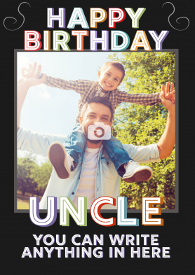 PERSONALISED Uncle Photo...
