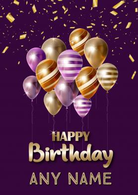 PERSONALISED Purple Balloon...