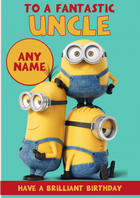 PERSONALISED Minion Uncle...