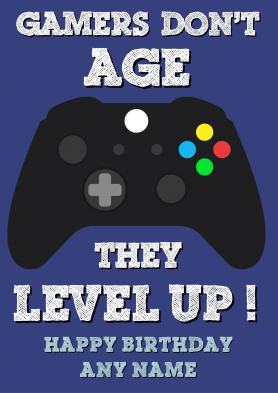 PERSONALISED Gamer Level Up...