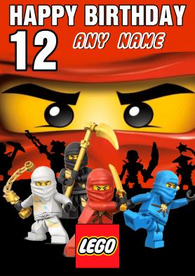 PERSONALISED Lego Ninjago...