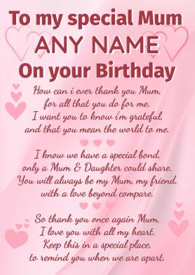 PERSONALISED Mum Birthday...