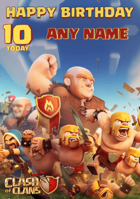 PERSONALISED Clash of Clans...