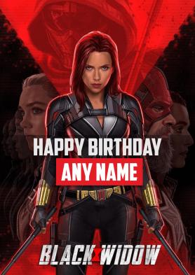 PERSONALISED Black Widow...