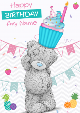 PERSONALISED Teddy Cupcake...