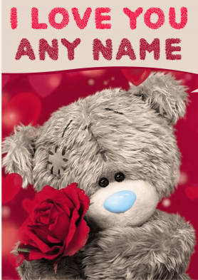 PERSONALISED I Love You Card