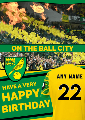 PERSONALISED Norwich City...